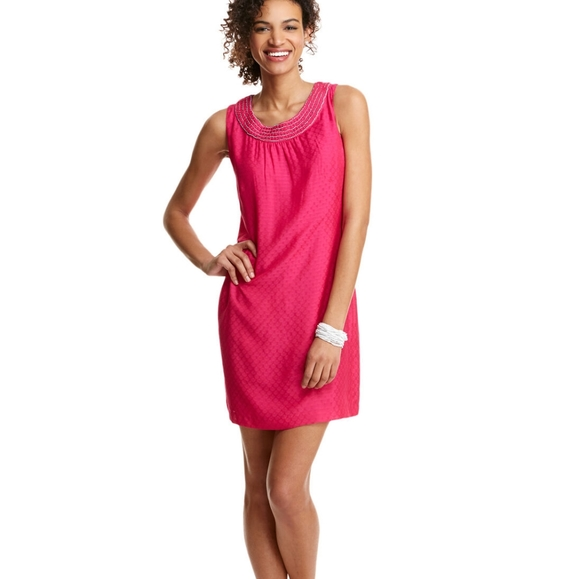 Vineyard Vines Dobby Embellished Shift Dress